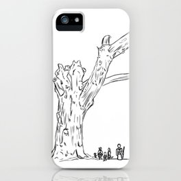 Dead Tree Lines iPhone Case