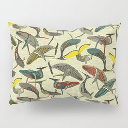 whales and waves bold Pillow Sham