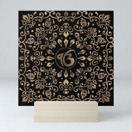 Ek Onkar / Ik Onkar Black and Gold #2Ek Onkar / Ik Onkar Black and Gold #2 Mini Art Print