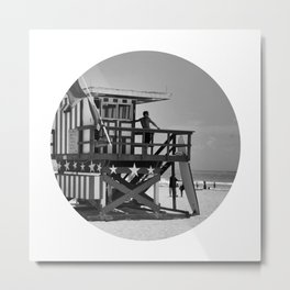 Beach Hut 8 Metal Print