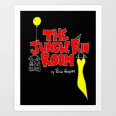 The Jungle Fun Room:  Blackboard Artwork Art Print