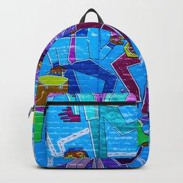 playing and dancing graffiti Backpack