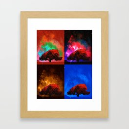 Magic Space Trees I Framed Art Print
