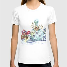 Magic pitcher house with a flashlight and gifts T-shirt