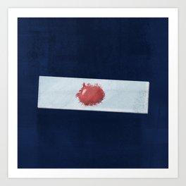Blood slide Art Print