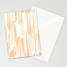 Modern Coral Stripes IV Stationery Cards