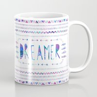 dreamer Mugs featuring DREAMER by Bianca Green