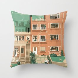 Hitchcock's Rear Window Throw Pillow