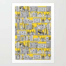 New York yellow Art Print