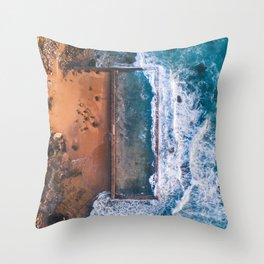 Natural swimming pool Throw Pillow
