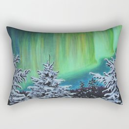 Northern Lights, Algonquin Park Rectangular Pillow