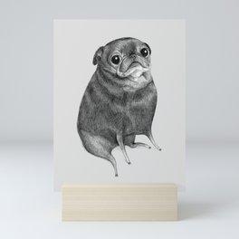 Sweet Black Pug Mini Art Print