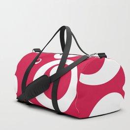 Circles Dots Bubbles :: Geranium Duffle Bag