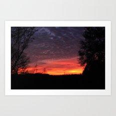 talkin shit about a pretty sunset Art Print