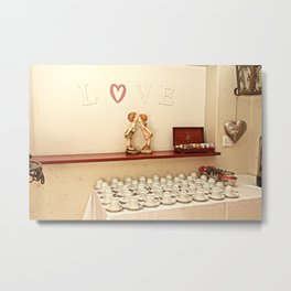 The tea station in love Metal Print