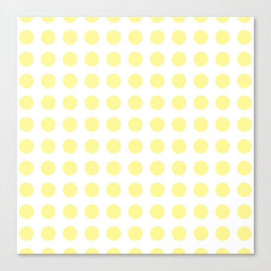 Simply Polka Dots in Pastel Yellow Canvas Print