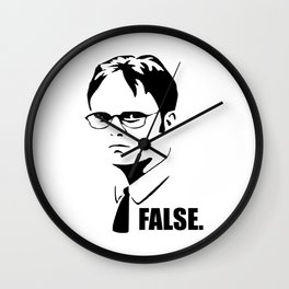 False funny office sarcastic quote Wall Clock