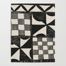 Tapa | Barkcloth | Pacifica | Pasifica | Abstract Patterns | Pacific Islands | Tribal | Ethnic | Poster