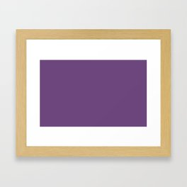 color purple 3515U Framed Art Print