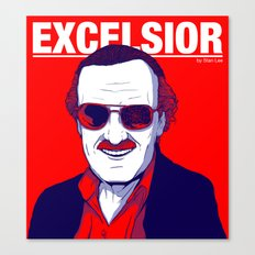 Stan Lee / Excelsior Canvas Print