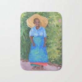 African Woman Bath Mat