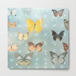 The Yellow Butterfly Metal Print