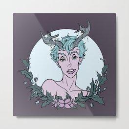 Holly Sprite (Powder/Thistle) Metal Print