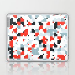 The accent color - Random pixel pattern in red white and blue Laptop & iPad Skin