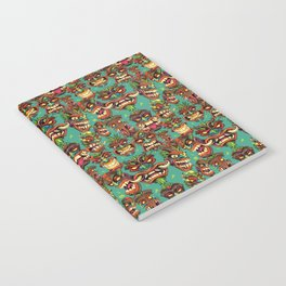 Tiki Head Pattern Notebook