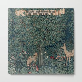William Morris Greenery Tapestry Metal Print