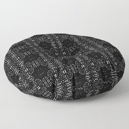 Black and white Vintage Floor Pillow