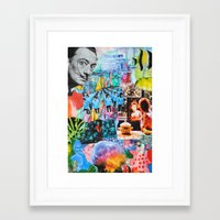 salvador dali Framed Art Prints featuring Salvador Dali by John Turck
