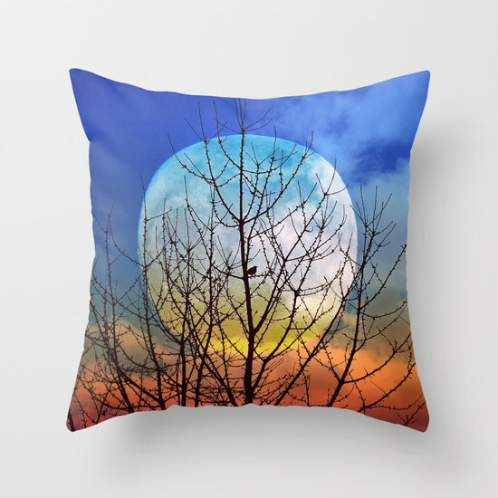 The moonwatcher Throw Pillow