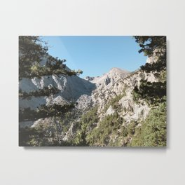 Scenic Mountain View of Samaria Gorge in Crete, Greece | Travel Photography | Nature Photography Metal Print