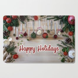 Happy holidays with spoons Cutting Board