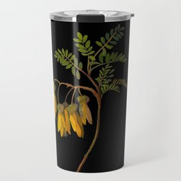 Sophora Tetraptera Mary Delany Floral Paper Collage Delicate Vintage Flowers Travel Mug