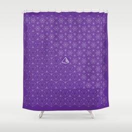 Lemurian Rhythm Shower Curtain