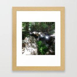 Beaming Stream Framed Art Print