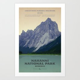 Nahanni National Park Poster Art Print