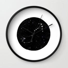 Scorpio black and white star chart zodiac star signs minimal decor Wall Clock