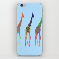 giraffes iPhone & iPod Skins featuring Giraffes  by Michelle Jalfon