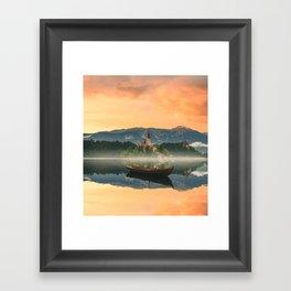 Golden Getaway Framed Art Print