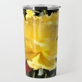 Happy Yellow Tulip Travel Mug
