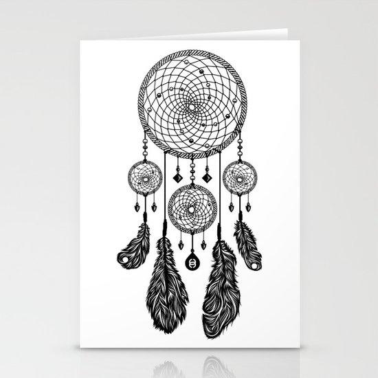 Dreamcatcher (Black & White) Stationery Cards