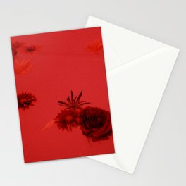 Fall Flowers in Milk Bath with Red light Stationery Cards