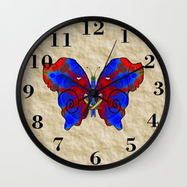 Nautilus Elephant Butterfly Wall Clock