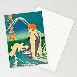 Summer at Miho Peninsula (Nagoya Rail Agency, 1930s) Stationery Cards