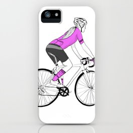 Girl Cyclist iPhone Case