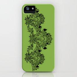 Vintage Lace Hankies Greenery iPhone Case