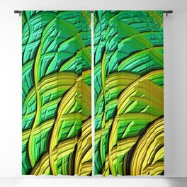 patterns green yellow string Blackout Curtain